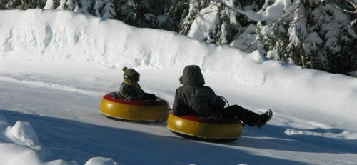 Enjoy tubing at Tremblant