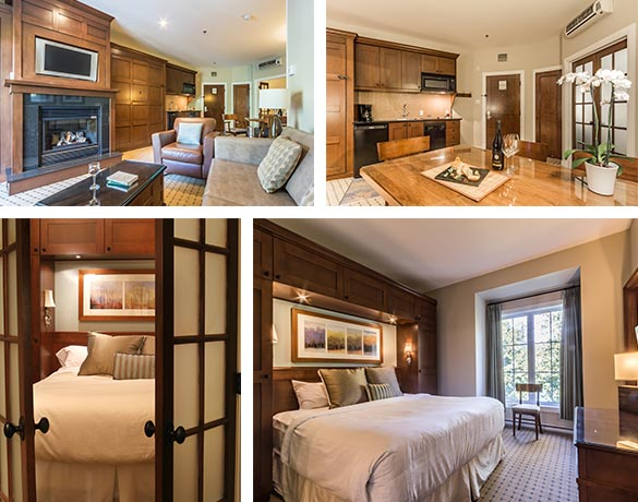 Hotel suites in Mont Tremblant. Chateau Beauvallon offers 70 luxury suites for any season vacation stay