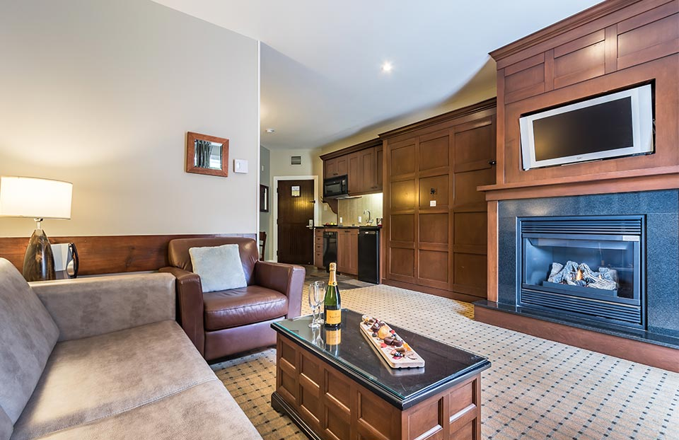 award winning Tremblant Hotel with 70 luxury suites for any vacation, winter or summer.