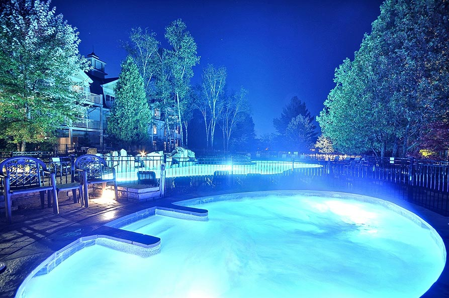 Exterior Hot Tub Night