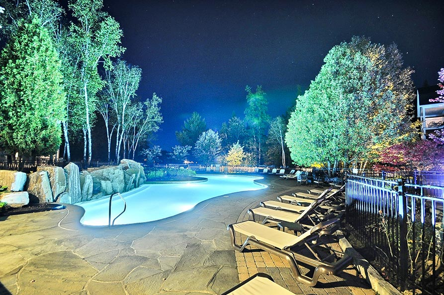 Exterior Pool Night