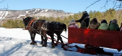 Grear sleigh ride in Tremblant